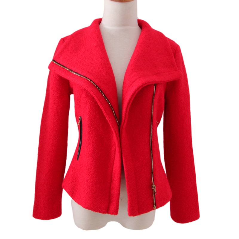 Popular Short Red Coat-Buy Cheap Short Red Coat lots from China ...