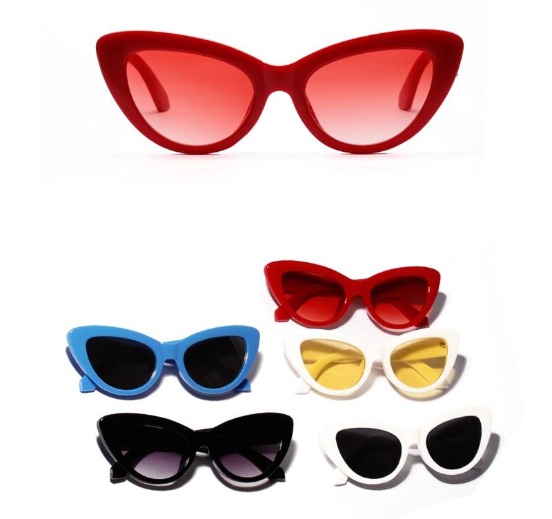 019a0c48309 Peekaboo retro cat eye sunglasses women yellow red lens sun glasses women  uv 400 sexy summer accessories 2019 fashion.