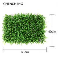 Plastic Square Mat Grass Moss 40CM*60C Artificial Plant Wall green decorative wall accessories