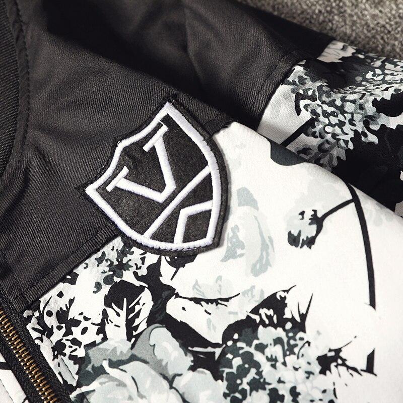 Streetwear Hommes Fit vent Printemps Blanc Slim Longues Manteau Col Imprimer Vestes Décontractée Coupe Veste Montant À Grande 2019 De Manches Taille D'extérieur Vêtements Mens p6AnnwYqEx
