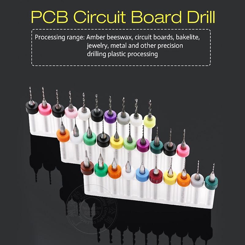 10Pcs/set Micro Mini Twist Drill Bits Set PCB Print Circuit Board Tungsten Carbide Engraving Tool 0.3mm-1.2mm Metalworking