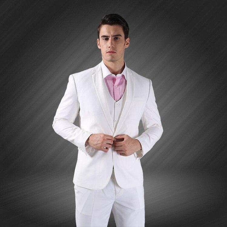 (Jope + vest + püksid) meeste äri ühe rinnaga peidetud peigmees - Meeste riided - Foto 3