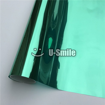 VLT 15% Green Solar Window Foil Vinyl For Glass Buliding Home Office Size:1.52*30m/Roll