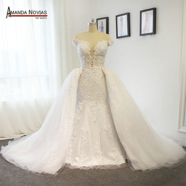 Newest Y But Beautiful Two In One Off The Shoulder Wedding Dress Amanda Novias