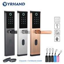 YRHAND Keyless אלחוטית טביעות אצבע חכם מנעול ביומטרי מנעול, חכם דלת מנעול בית, קוד אלקטרוני מקשי מנעול דלת