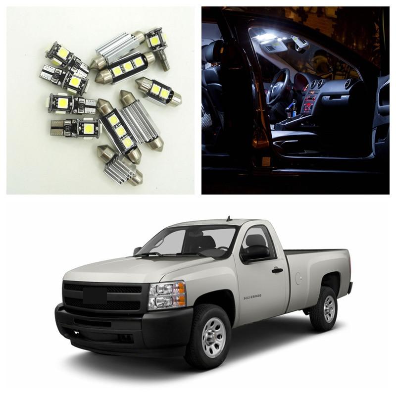 13pcs white led light bulbs interior package kit for chevy - Led interior lights for 2013 chevy silverado ...