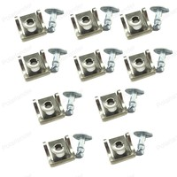 10Pcs 8D0805121 Metal Under Engine Cover Screw Undertray Clips fitting kit for A/udi A4 A6 V/W P/assat B5 S/koda S/uperb