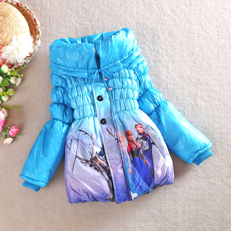 Winter baby girl parkas coat snow queen elsa anna cotton overcoat for 3-8yrs girls kids children warm thick outerwear clothes children winter coats jacket baby boys warm outerwear thickening outdoors kids snow proof coat parkas cotton padded clothes