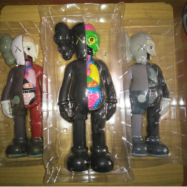 2017 hot selling 1pc 16 Inch Originalfake KAWS Dissected Companion Figure With Original Box Kids Toys for Children brinquedos hot selling 38cm originafake kaws companion astro boy high quality action collection