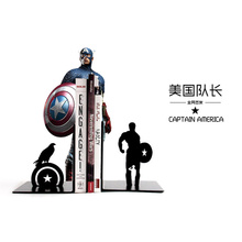 A Pair Creative Black American captain Metal Bookend Shelf Bookend Holder Office School Supplies Stationery Gift Home decoration