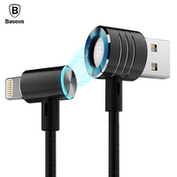 Baseus T-type Magnetic USB Cable For iPhone 2.1A High Speed Data Sync Charging Magnet Charger For iPhone 7 6 6s 5 5s se iPad Air