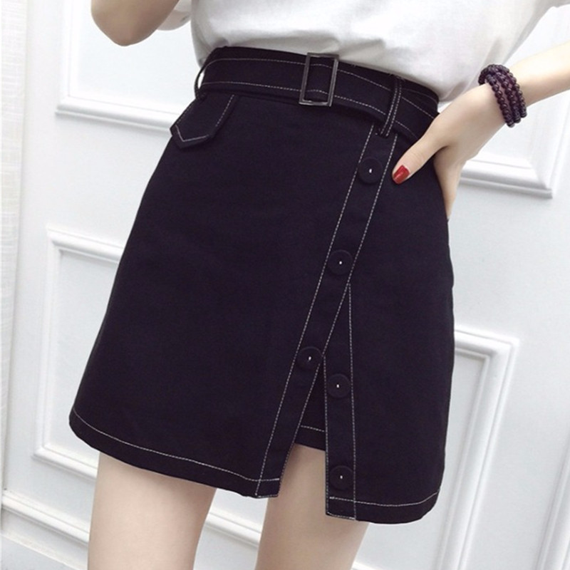Skirt Open-Line Korean-Version Large-Size The Fake of Wild Two-Piece