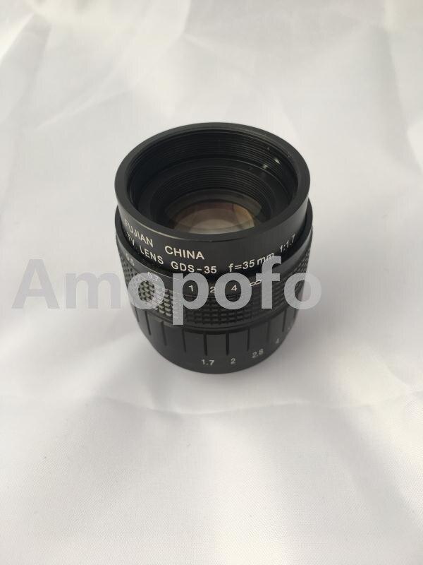 Amopofo, C-FX + Noir 35mm f1.7 C Mount Lentille CCTV pour Fujifilm X-Pro1 X-E1 X-E2 X-M1 X-A1 X-T1 + 2 Bague Macro