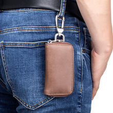 Genuine Cow Leather Business Key Buckle Car Packet Organizer Smart Holder Case Housekeeper Holders Wallet