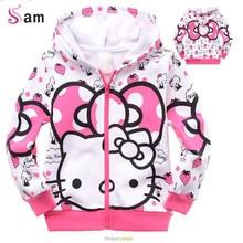 Bavlněná dětská mikina na zip s obrázkem Hello Kitty