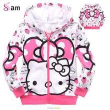 2014 Winter Boys Hoodie Jackets Children's Coat cotton coats for children Clothes Kitty Hoodie Kids cartoon baby outerwear