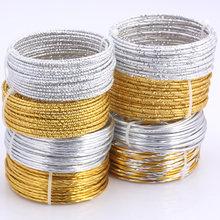 Olingart 5 m/lote 2.0mm fio de alumínio padrão, ouro/prata macio, artesanato, versátil, dobrável, metal, jóias diy, fabricação de artesanato