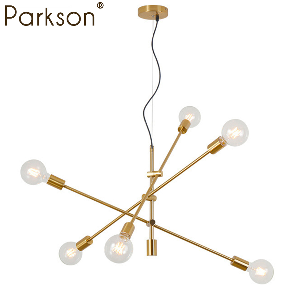 Nordic Modern Pendant Lights Hanging light E27 Living room Pendant lamp Chandelier Ceiling Black Gold LED Lamp industrial decor modern e27 led bulb lotus shape chandelier pendant ceiling lamp shade hanging light lampshade diy home living room bedroom decor