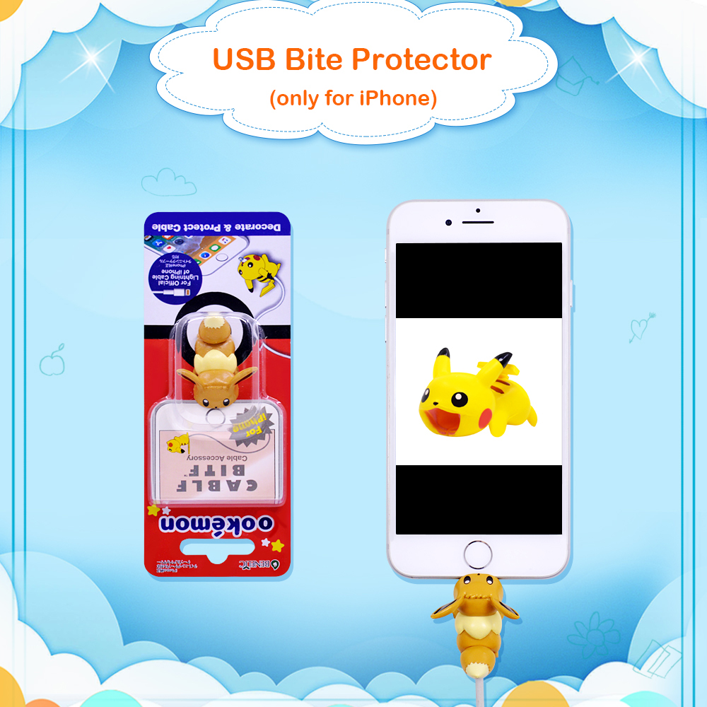 Image 2 - CHIPAL Cartoon Bite Animal Cable Protector for iPhone USB Charger Wire Winder Organizer Chompers Luffy Son Goku Stitch Holder-in Cable Winder from Consumer Electronics