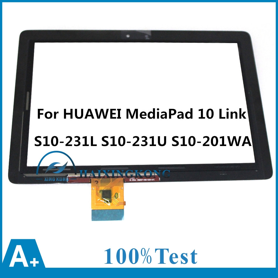 For HUAWEI MediaPad 10 Link S10-231L S10-231U S10-201WA Touch Screen Panel Digitizer Sensor Glass Lens Repair Replacement Parts for huawei mediapad 10 link s10 201u s10 201wa new lcd display panel screen monitor replacement 100