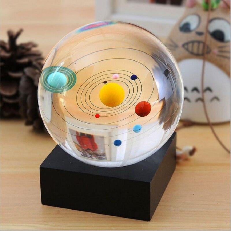 Sistema solare di Cristallo della Sfera del Globo Astronomico Celeste Otto Planet Galaxy 8 Planetario Soggiorno A Casa Della Decorazione Regalo di Affari