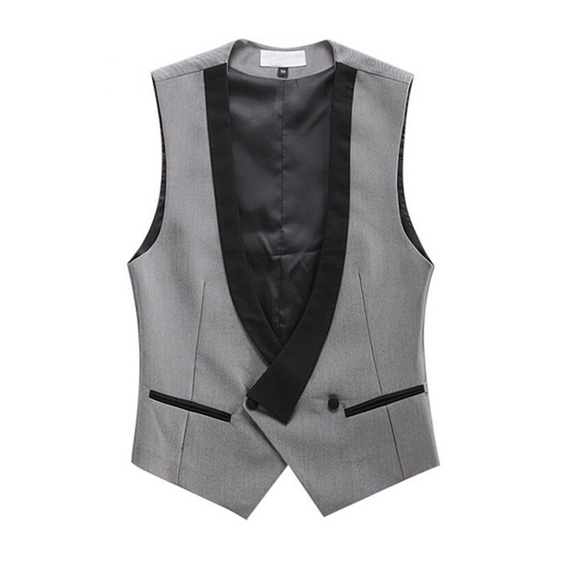 Waistcoat Men Vest Business Wedding-Ceremony One-Button Casual Stylish for Outwear Handmade