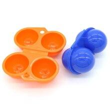 Caixa de plástico 2/4 Caixa de Ovo Bandeja de Suporte De Armazenamento De Ovo Frigorífico Piquenique Ao Ar Livre À Prova de Choque Com Alça Caixa de Doce Cor