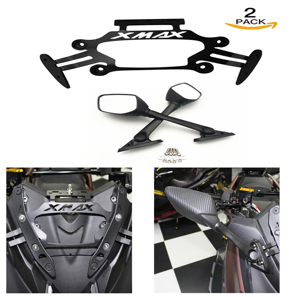 Motorcycle CNC Rear View Mirrors Fixed Stent Bracket Navigation Holder For <font><b>Yamaha</b></font> <font><b>XMAX</b></font> 250 <font><b>xmax</b></font> 300 <font><b>xmax</b></font> <font><b>125</b></font> <font><b>xmax</b></font> 400 2017-2020 image