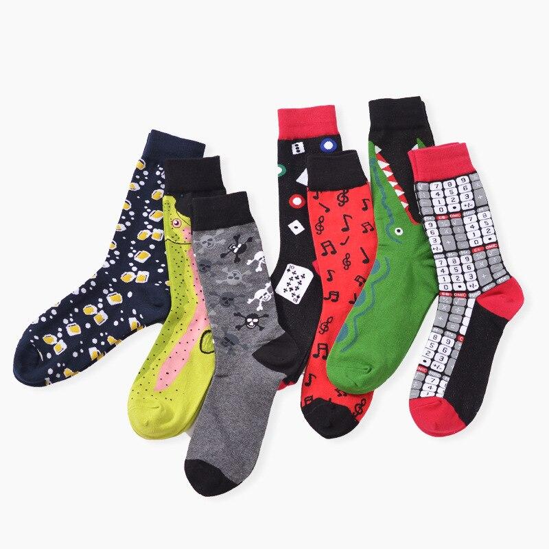 Sports Yoga socks Happy socks men & women Christmas winter Autumn cotton thermal Knee-High Geometric shapes Cycling Skiing socks