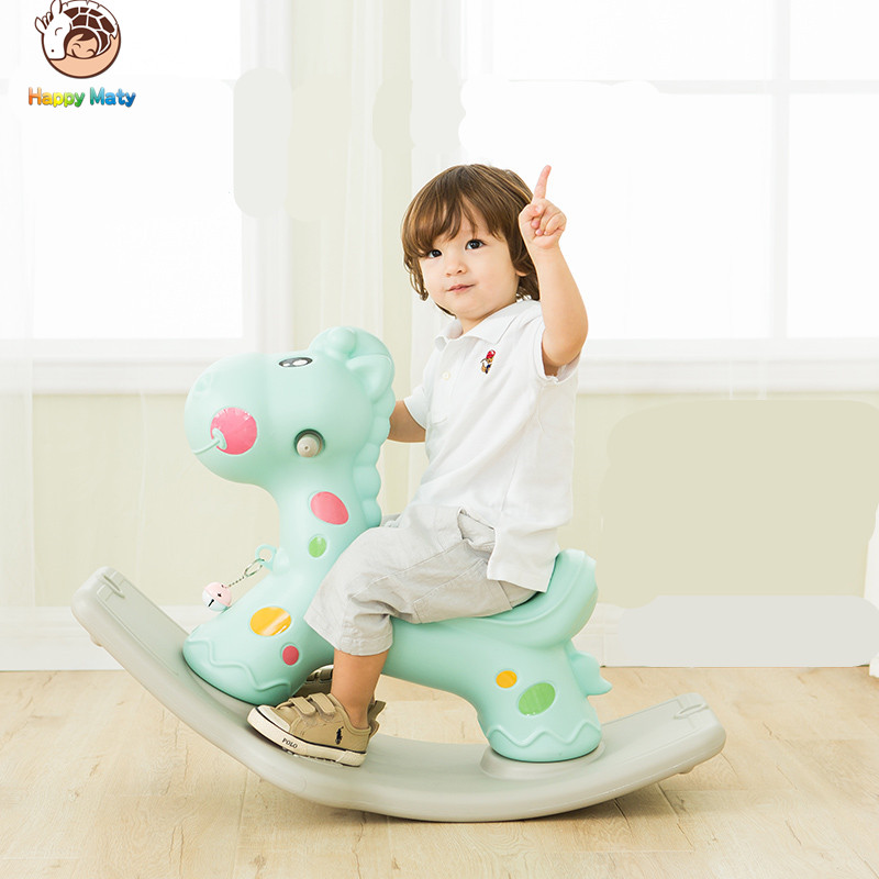 Happy Maty Amusement marche cheval en plastique à bascule chevaux intérieur et extérieur Ride sur cheval jouets pour bébés enfants bébé enfants
