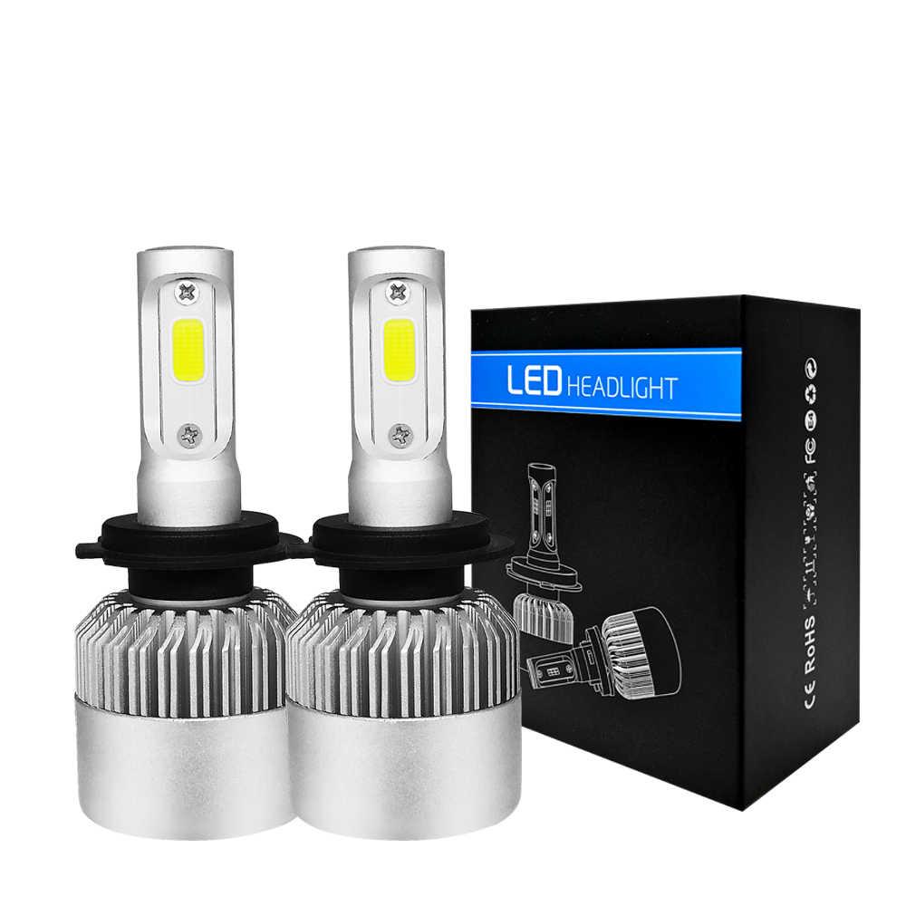 PAMPSEE 12V Car Headlight H4 LED H7 H1 H3 H11 H13 HB1 HB2 HB3 HB4 HB5 9003 9004 9005 9006 9007 72W 8000LM 4300K 6500K 8000K