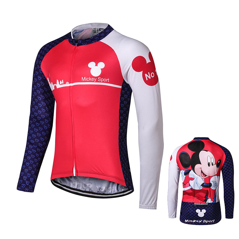4e26827e4 Mickey Cycling jersey bicycle bike cycling jersey Mickey clothing for 2015  women men Mickey color short sleeve Free Shipping-in Cycling Jerseys from  Sports ...