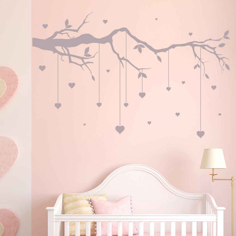 Tree Branch Cot Mobile Wall Stickers
