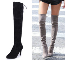 HOT 2016 Size 35 43 Designer thigh high boots winter fashion women over the knee boots