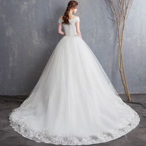 Image 2 - Fansmile New Robe de Mariage 2020 Cheap Wedding Dress China Vestidos de Novias Bridal Ball Wedding Gown FSM 626F