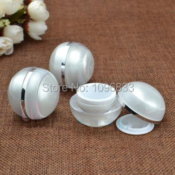 5g Pearl White Cream Jar, 5 Acrylic Round Jar, Cosmetic Sphere Round Jar, Cosmetic Packing Container, 5G Jars, 100pcs/Lot