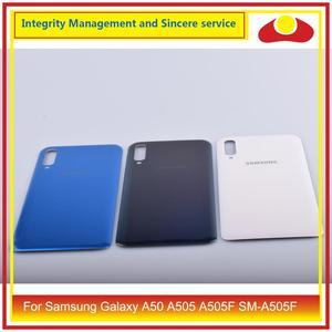Image 3 - 10 pçs/lote para samsung galaxy a50 a505 a505f SM A505F habitação porta da bateria traseira caso capa de vidro chassis escudo a50 2019