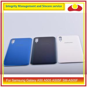 Image 3 - 10 pièces/lot pour Samsung Galaxy A50 A505 A505F SM A505F boîtier batterie porte arrière couvercle en verre boîtier châssis coque A50 2019