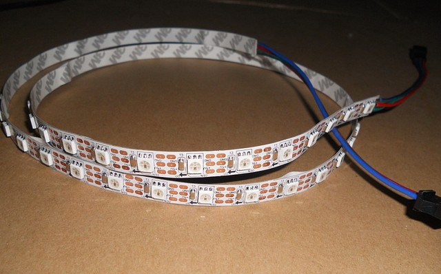 1m long DC5V 60pixels ws2811 built-in led digital strip;white PCB, non-waterproof