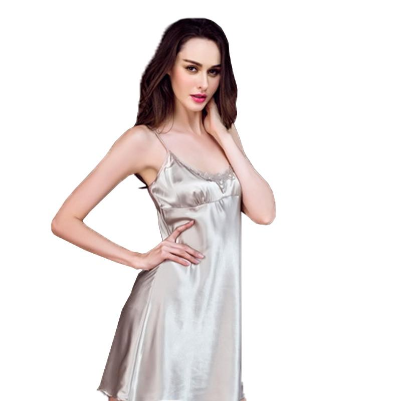 Mulheres Sexy Lingerie Sleepwear Mancha Mini Verão Vestido Das Senhoras de  Seda de Dormir Robe Vestido Nightgowns Babydoll Roupa de Dormir Roupa  Interior em ... 10ecf4bfe