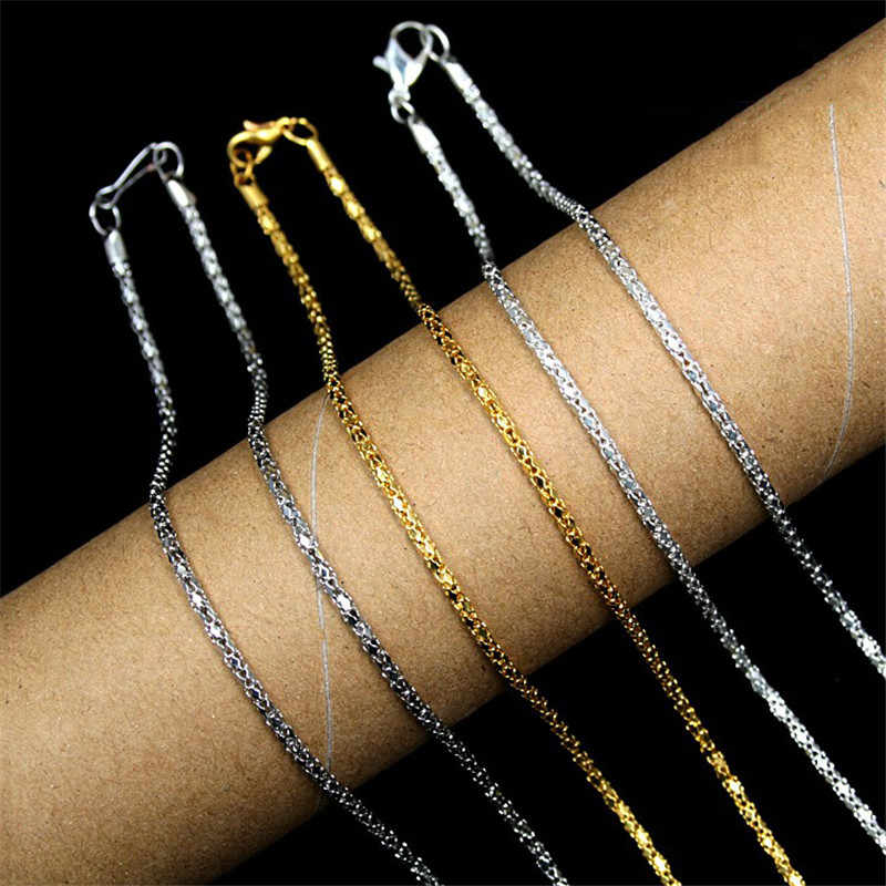 Retail Wholesale цепочка Fashion Plated Gold Chains Necklace For Men Women Snake Chains Necklace Jewelry for Chains Bar Necklace