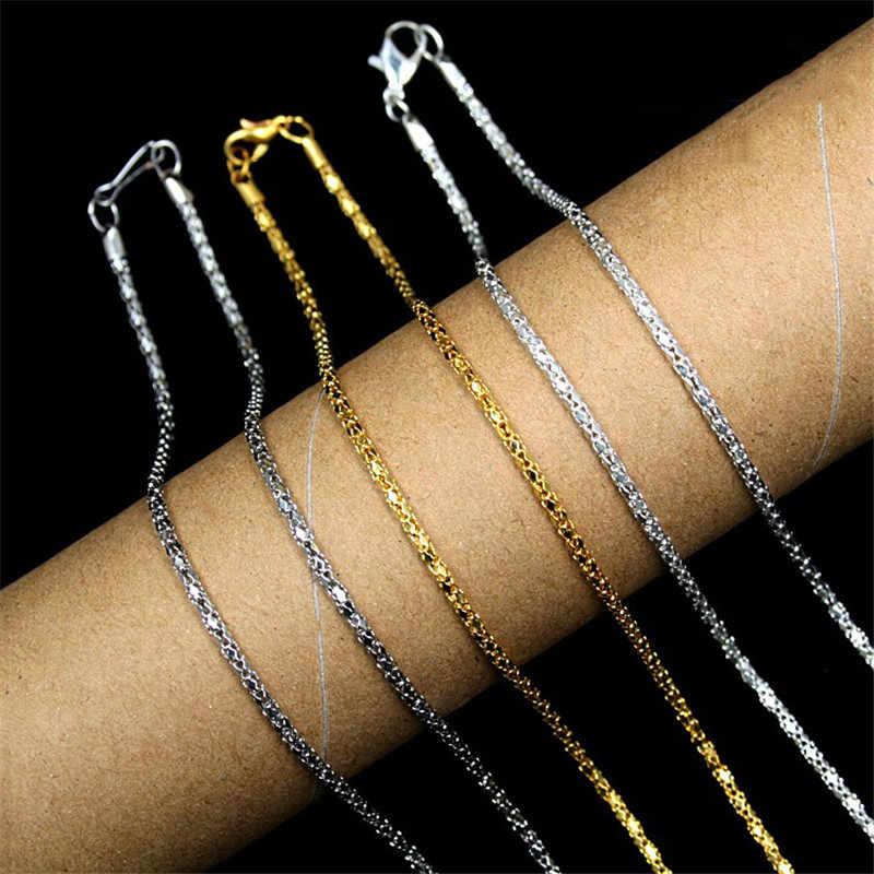 הקמעונאי סיטונאי цепочка אופנה מצופה זהב שרשרות שרשרת לגברים נשים נחש תכשיטי שרשרת שרשרות שרשרות בר שרשרת