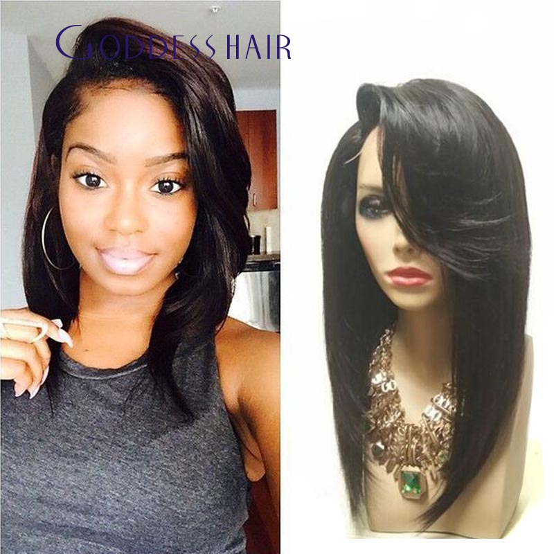 150 Thick Density Malaysian Human Hair Bob Wigs Long Bob Lace Front