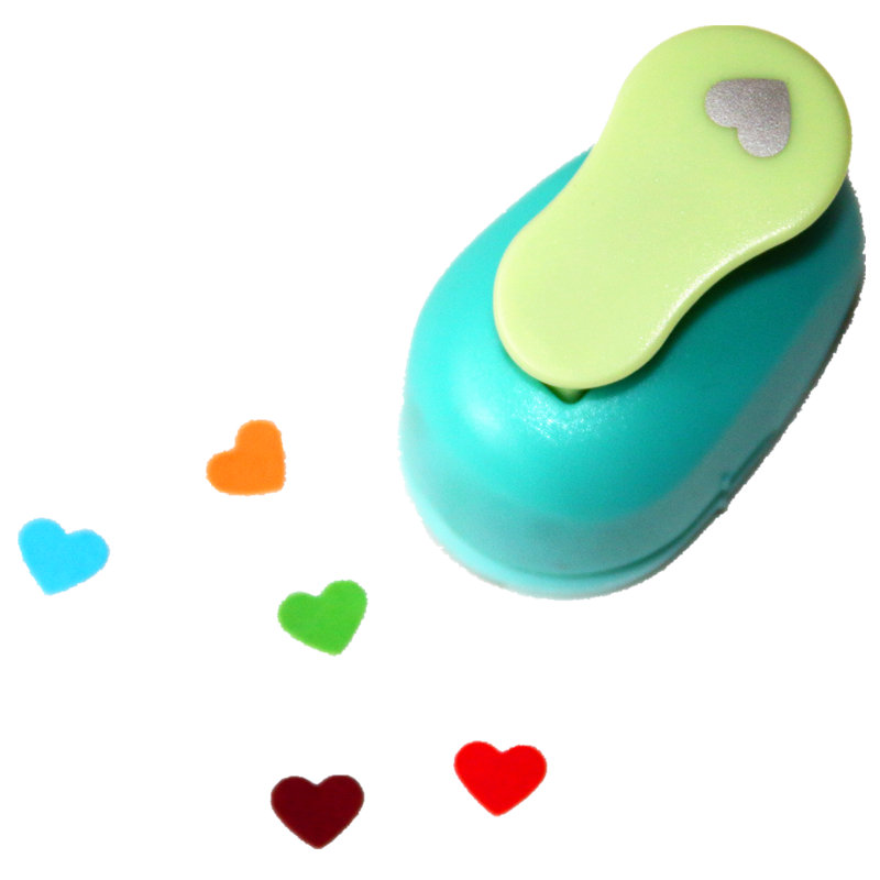 3/8'' 1cm Hearts Paper Punch Scrapbooking Punches Craft Perfurador Paper Punch For Kids Furador Diy Puncher 31715