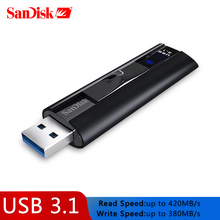 SanDisk SSD USB 3.1 Usb Flash Drive 128GB Extreme PROปากกาไดรฟ์256GBแฟลชMemory Stick CZ880 USBคีย์U Disk 420เมกะไบต์/วินาทีสำหรับPC