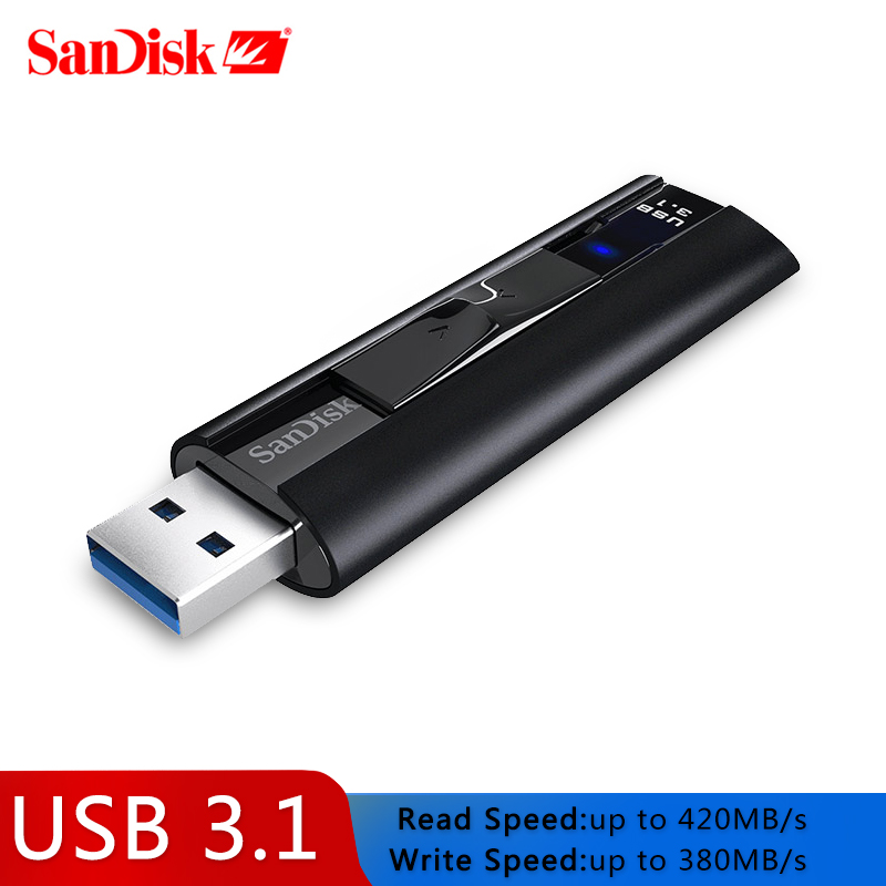 SanDisk SSD USB 3.1 Usb  Flash Drive 128GB Extreme PRO Pen drive 