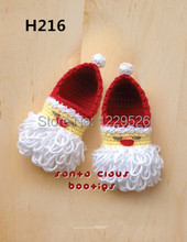 crochet ChristmasDay  baby shoes for baby gift