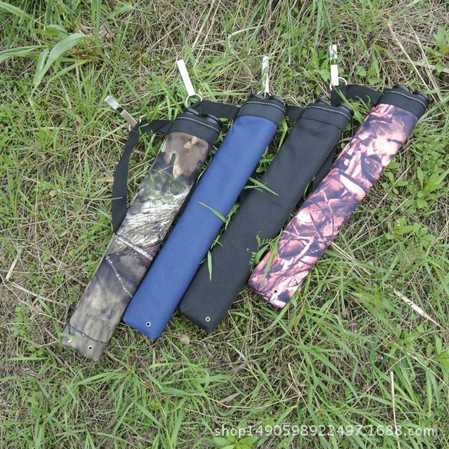 Bow and arrow Archery 2 Tube Quiver Oxford Cloth Waist-Span 3 Colors Hunting Arrow Quiver for Compound/Recurve Bow Hunting Bag 3