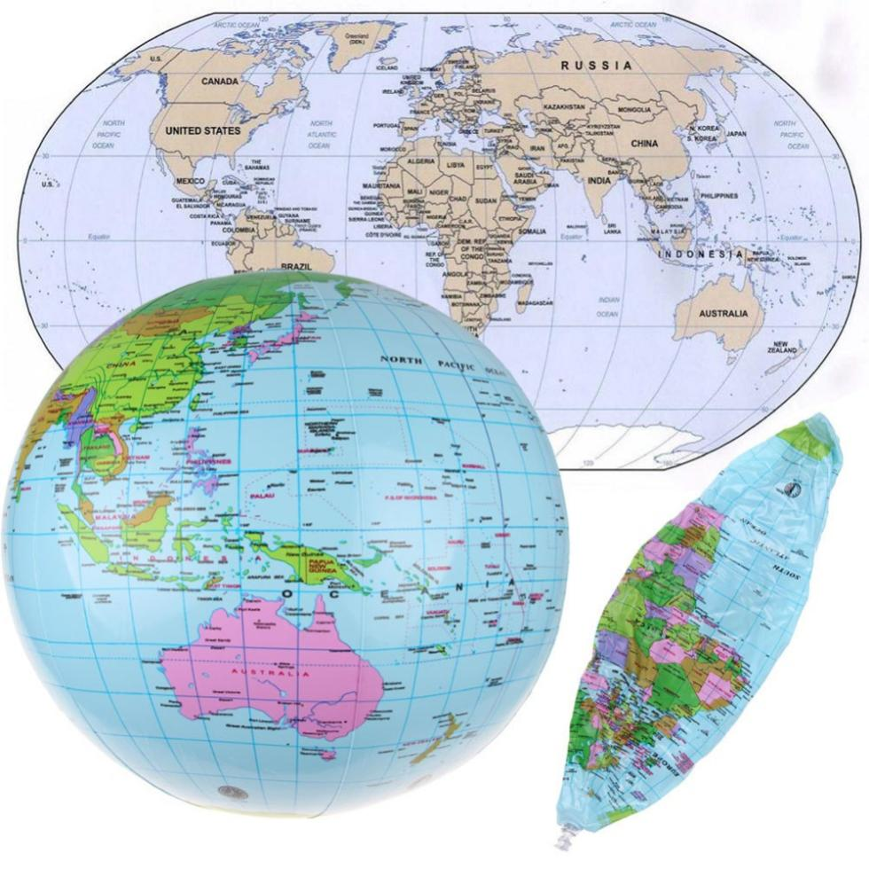 Hot sale inflatable blow up world globe 36cm 14 inch earth atlas hot sale inflatable blow up world globe 36cm 14 inch earth atlas ball map geography toy cheap in geography from office school supplies on aliexpress gumiabroncs Images