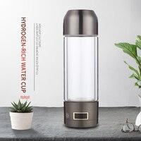 Hydrogen Rich Water Generator Alkaline Energy Glass bottle USB Rechargeable Portable Water Ionizer Bottle ozone water purifier